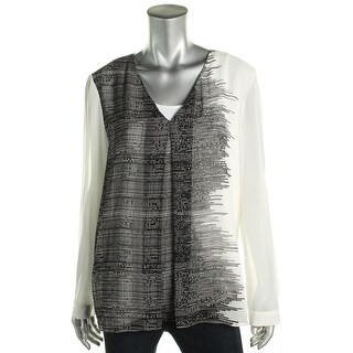 Calvin Klein Womens Tunic Top Pleated Print