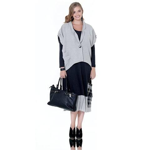 LA MOUETTE Women's Plus Size Knit Dress with Cardigan