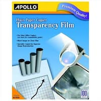 Plain Paper Copier Film With Sensing Stripe, Clear, 100