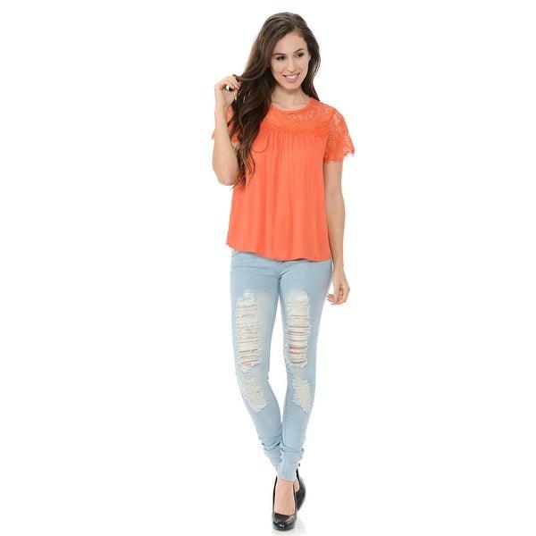 2d5dcadf9d Diamante Fashion Women s Blouse - Style EA7134 - Color - Coral - Size -  Large