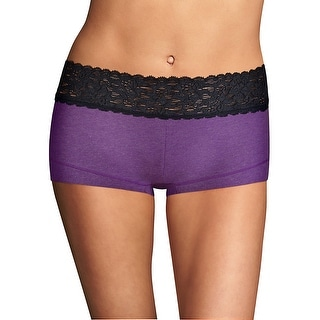 Link to Maidenform Cotton Dream Boyshort with Lace Similar Items in Intimates