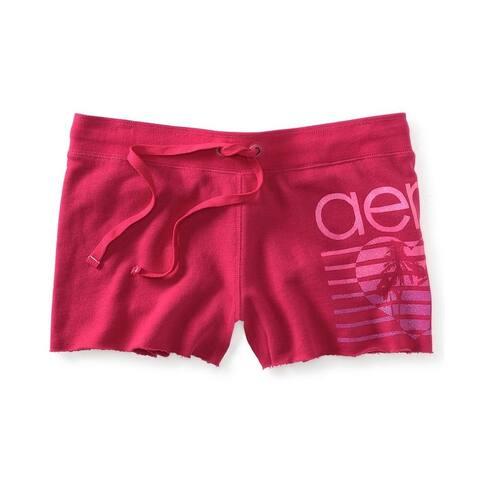 Aeropostale Womens Glitter Heart Casual Bermuda Shorts, pink, X-Small