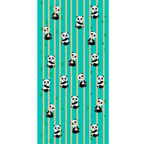 Pandas 30x60 Brazilian Velour Beach Towel