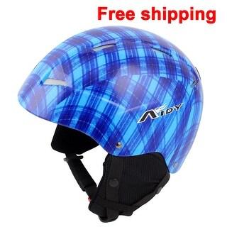 Women Men Skateboard Skiing Racing Bicycle Bike Sports Helmet Size L Blue Black
