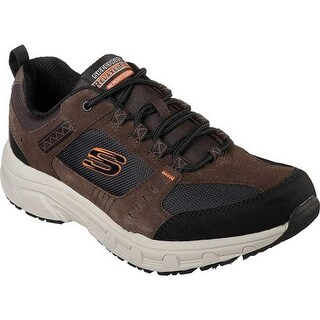 Skechers Men's Relaxed Fit Oak Canyon Sneaker Chocolate/Black