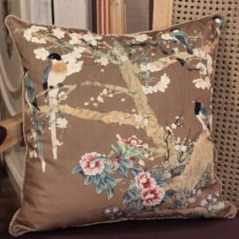 "Luxury Brown Bird Printing Pillow 20""X20"""