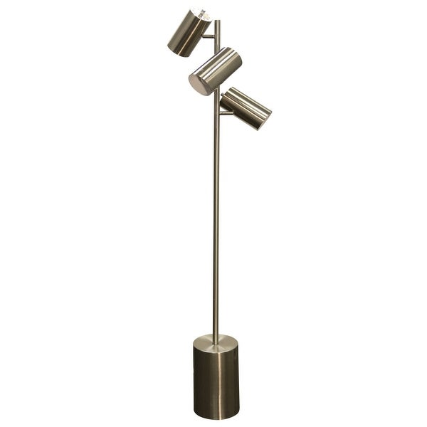 Delacora Sc L72948 Focus 63 Tall Tree Style Floor Lamp With Metal Shade Br Steel N A Free Shipping Today 25646053
