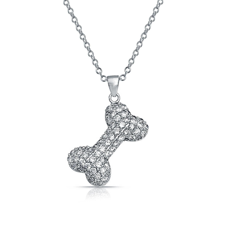 Sterling Silver CZ Butterfly Dangle Pendant Necklace