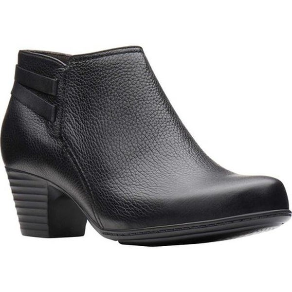 261bae72d1d Shop Clarks Women's Valarie 2 Ashly Ankle Bootie Black Leather - On ...