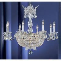 """Classic Lighting 69788-CH 26"""" Crystal Chandelier from the Crown Jewels Collection"""