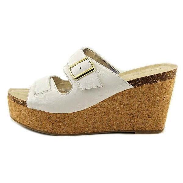 Kenneth Cole Reaction Women's Fro Pix Platform Wedge Sandal, White, Size 8.0