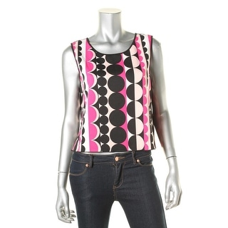 Vince Camuto Womens Printed Scuba Top Blouse - M