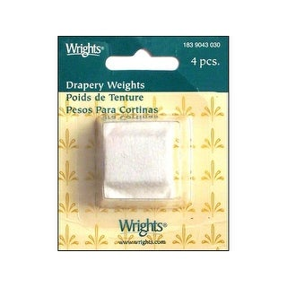 Wrights Drapery Weights Cloth Covered White 4pc