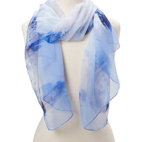 Oussum Women Abstract Scarf Neck Wrap Sheer Scarf Stole Lightweight Summer Soft Scarves & Wraps