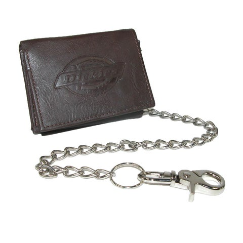 Dickies Leather Trifold Chain Wallet - one size