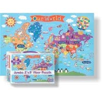 Round World Products RWPKP03 24 x 36 in. World Floor Puzzle for Kids