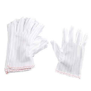Unique Bargains Unique Bargains 20 Pcs White Stretchy Nylon Antistatic ESD Gloves for Man Ladies