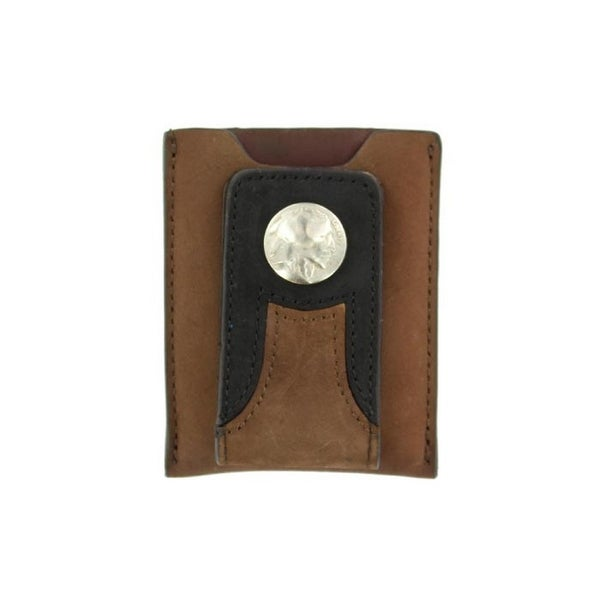 M&F Western Wallet Mens Leather Money Clip Leather Brown 0 - One size