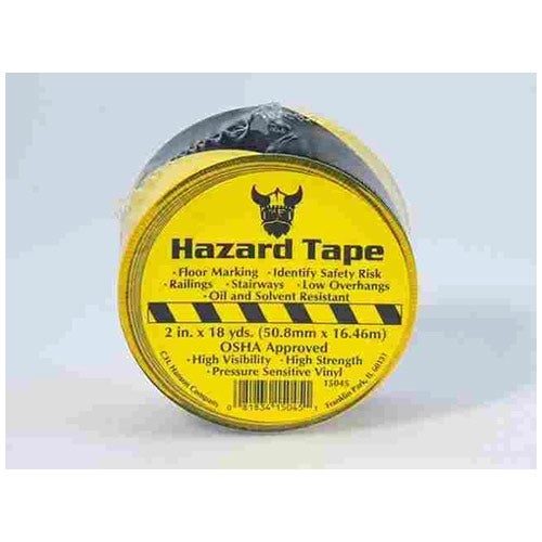 CH Hanson 15045 Floor Marking Tape With Diagonal Striped Plastic, Black & Yellow