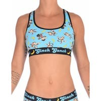 Ginch Gonch Womens Sports Bra in Blue