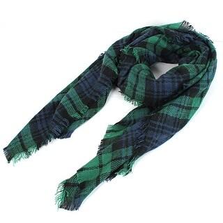 Unique Bargains Winter Tartan Plaid Pattern Cozy Stole Pashmina Wrap Shawl Scarf