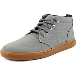 Timberland Groveton Men  Round Toe Canvas Gray Fashion Sneakers