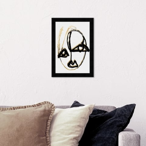 Oliver Gal 'abstract Portrait II' Abstract Wall Art Framed Print Paint - Black, White