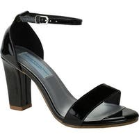 Dyeables Women's Maddox Ankle Strap Sandal Black Patent