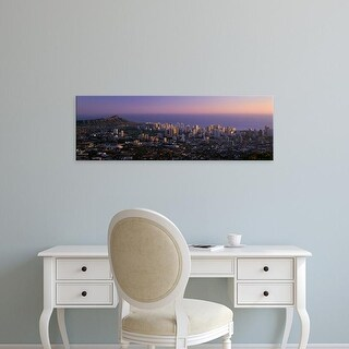 Easy Art Prints Panoramic Images's 'Oahu, Hawaii, USA' Premium Canvas Art