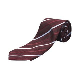 Ermenegildo Zegna Men Slim Silk Neck Tie Red Blue