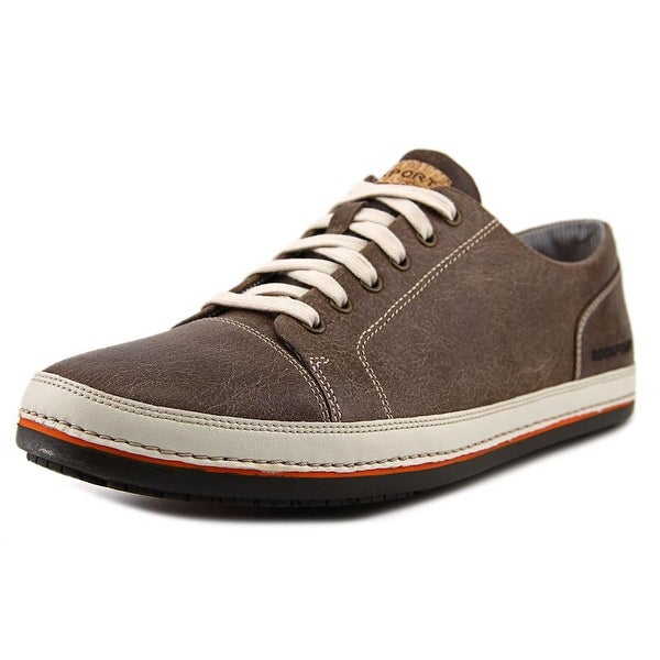 Rockport HarborPoint Men Leather Brown Fashion Sneakers