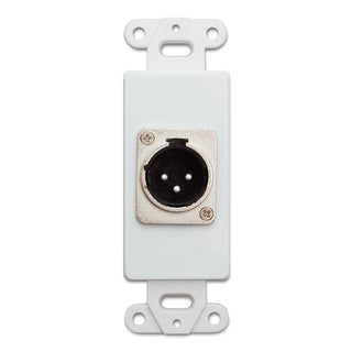 Offex Decora Wall Plate Insert, White, XLR Male to Solder Type