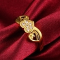 Petite Gold Valentines Love Ring - Thumbnail 2