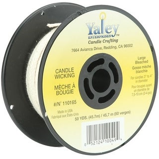 Candle Wicking Spool 50Yd-Large Bleached