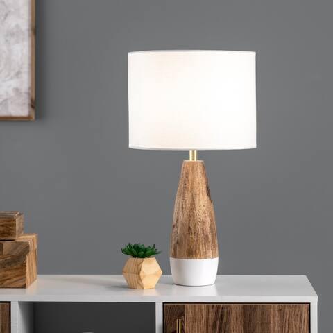 "nuLOOM Kenya 22"" Wood Table Lamp - 12""W x 12""D x 22""H"