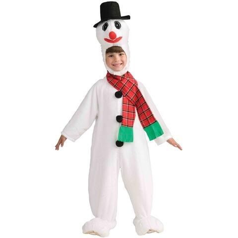 Forum Novelties Plush Snowman Toddler Costume - White