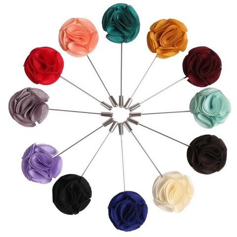Men's Rose Flower Lapel Pin Boutonniere For Suit