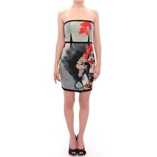 SACHIN & BABI SACHIN & BABI Multicolor Strapless Silk Floral Bubble Mini Shift Dress