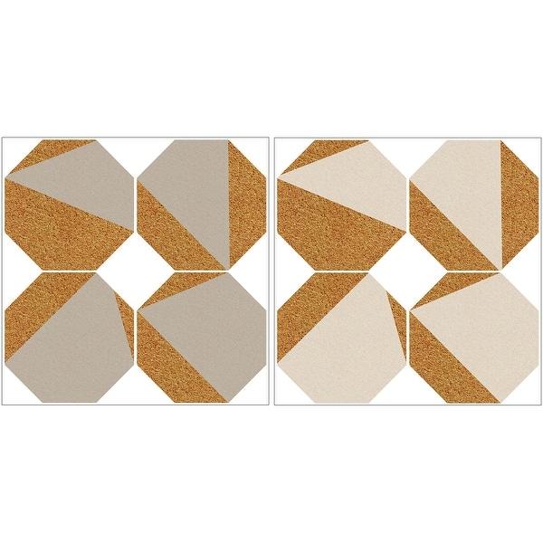 "Brewster WPK2312 WallPops 12"" x 24"" - Cork - Cork Wall Decal - 8 Panels - White / Off White"