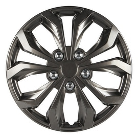 Pilot Automotive WH555-14GM-B 14/ 15/ 16-inch Performance Gunmetal Finish Wheel Cover (Pack of 4)