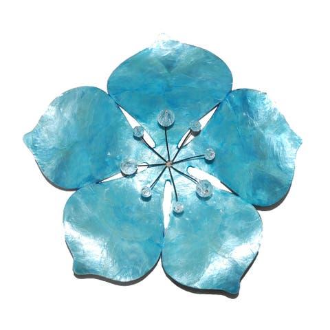 Flower Wall Decor Blue