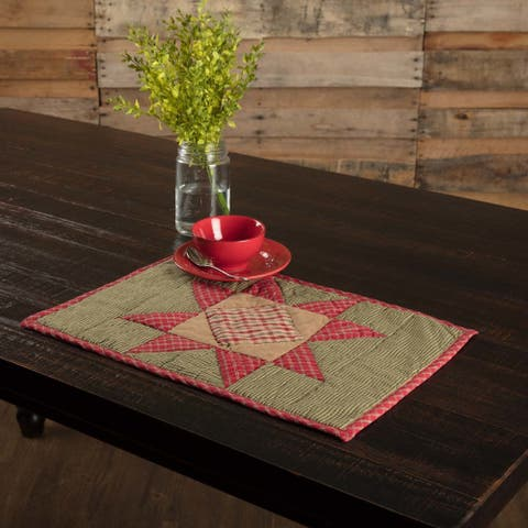 Dolly Star Quilted Placemat Set of 6 12x18 - Placemat 12x18