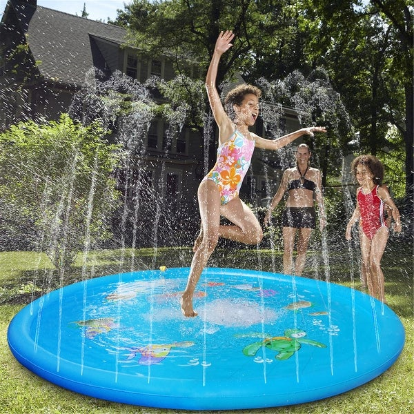 "Sprinkle & Splash Play Mat 68"" Sprinkler for Kids Outdoor Water Toys Fun for Children - 68''. Opens flyout."