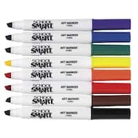 School Smart Non-Toxic Art Marker, Chisel Tip, Assorted Colors, Pack of 8