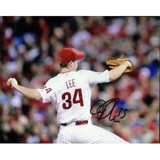 Signed Lee Cliff Philadelphia Phillies 8x10 Photo autographed