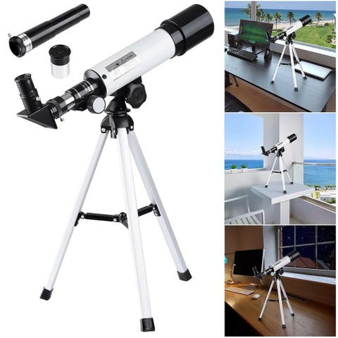 NewAge 360x50mm Kids Beginner Astronomical Refractor Telescope w/Tripod