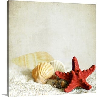 """Little treasures from sea."" Canvas Wall Art"