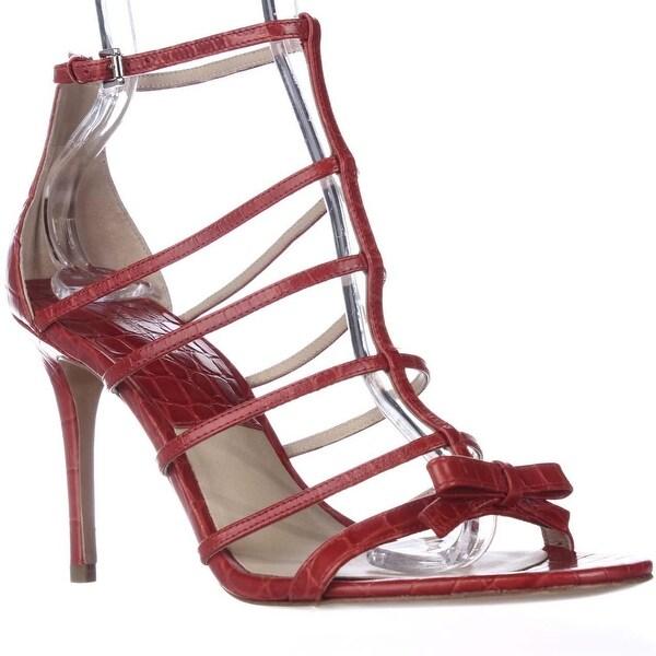 MICHAEL Michael Kors Blythe T-Strap Dress Sandals, Crimson