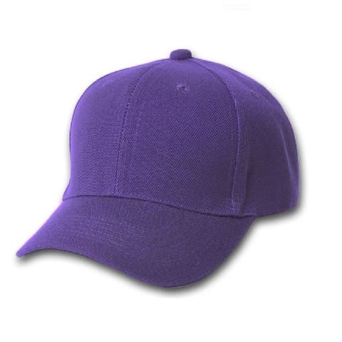Qraftsy Plain Cotton Unisex Baseball Cap - Adjustable Blank Hat with Solid Color - One Size