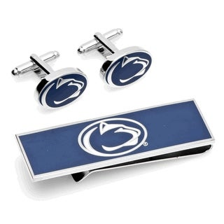 Penn State Nittany Lions Cufflinks and Money Clip Gift Set - navy